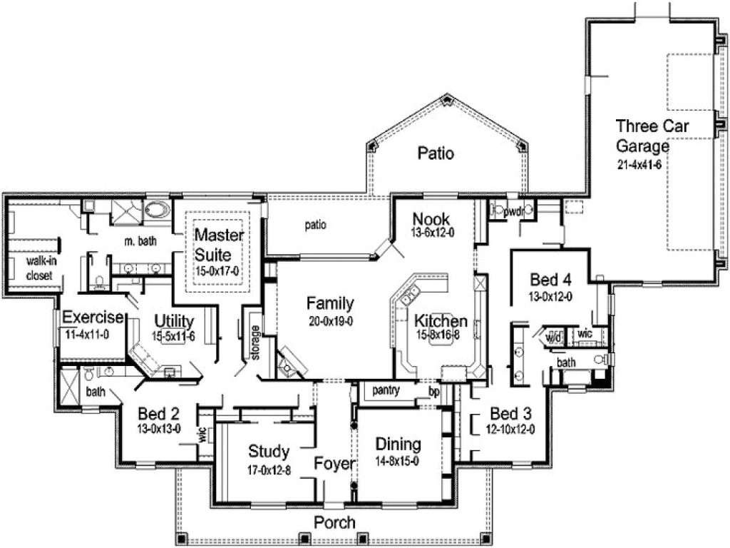 3a4cb8f26c4a2ccf house floor plans with rv garage attached house floor plans with exercise room