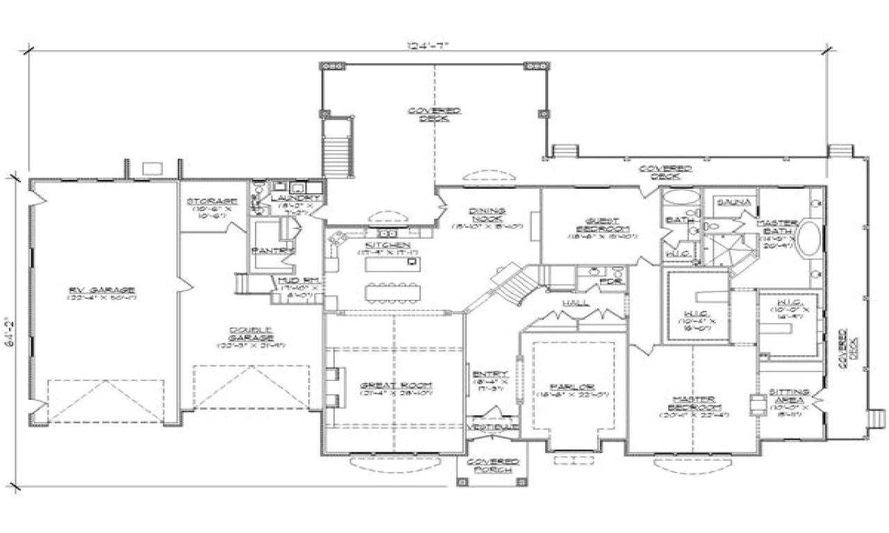 Garage Home Floor Plans House Plans with Rv Garages attached House Plans with Rv