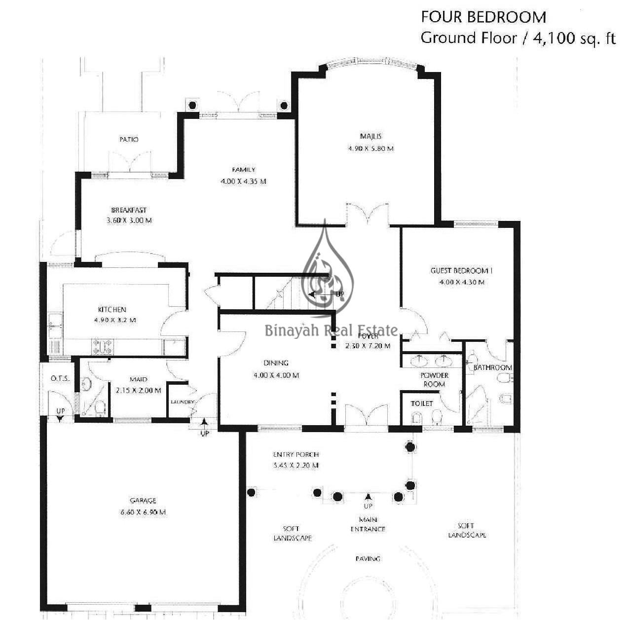 floor plan garden home palm jumeirah