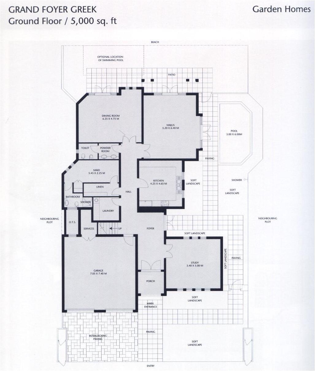 garden home atrium entry floor plan