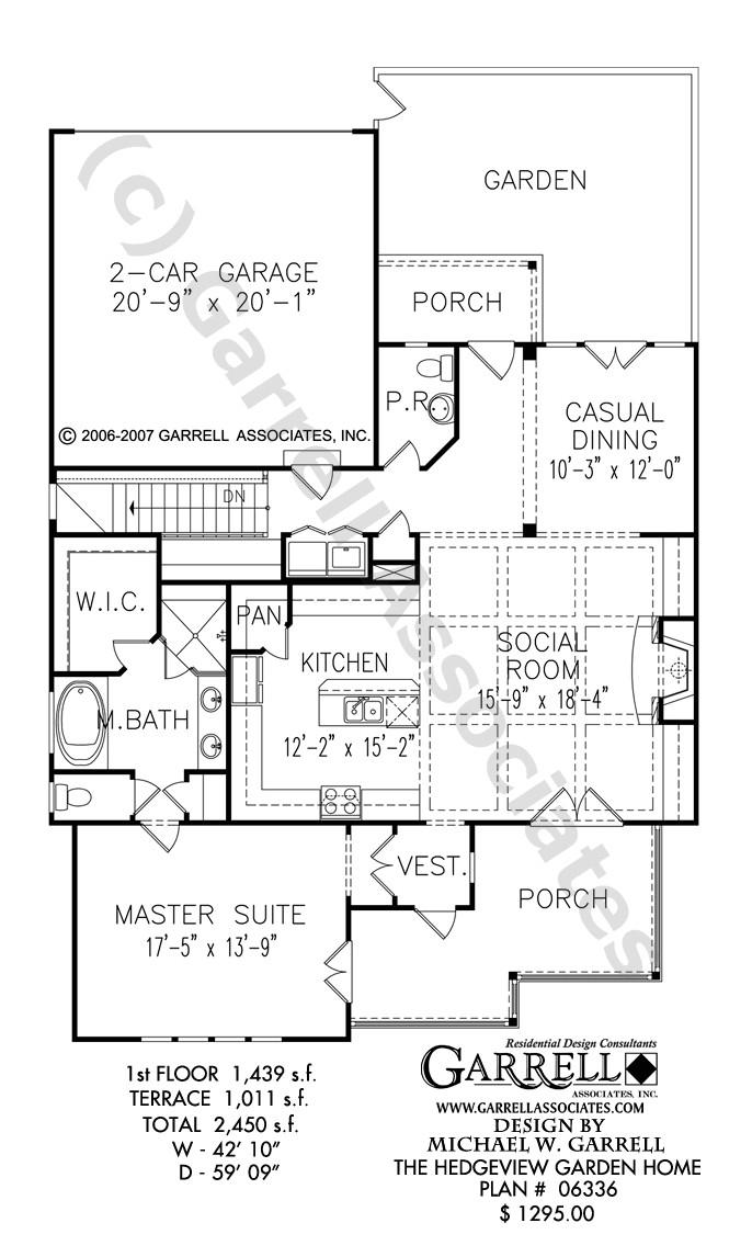 Garden Home Floor Plans Hedgeview Garden Home House Plan Covered Porch Plans