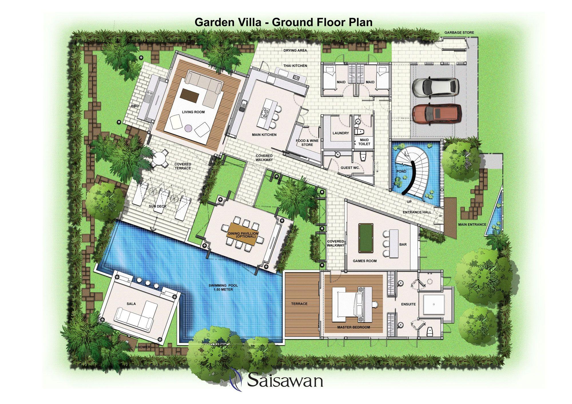 Garden Home Plans Saisawan Garden Villas Ground Floor Plan House Plans