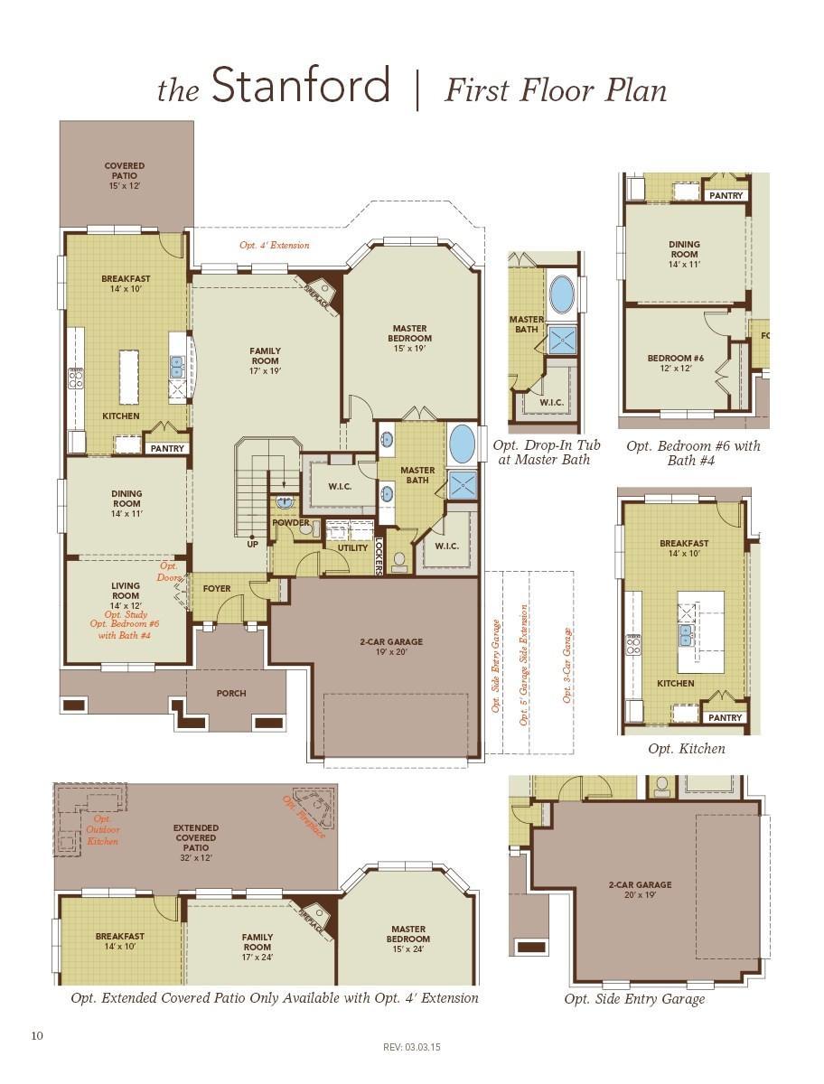 gehan homes brown floor plan