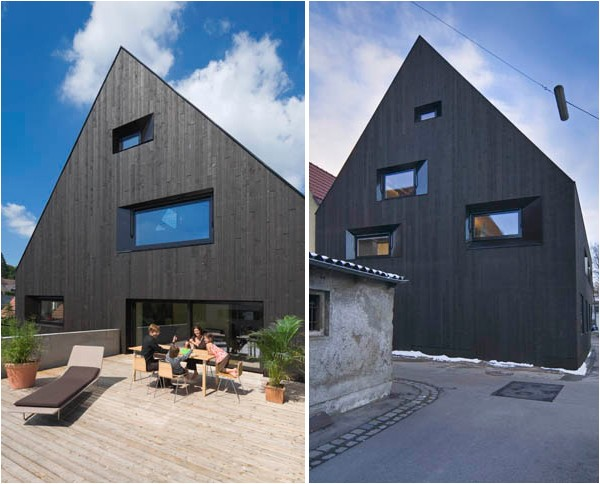 contemporary wood house german home 08