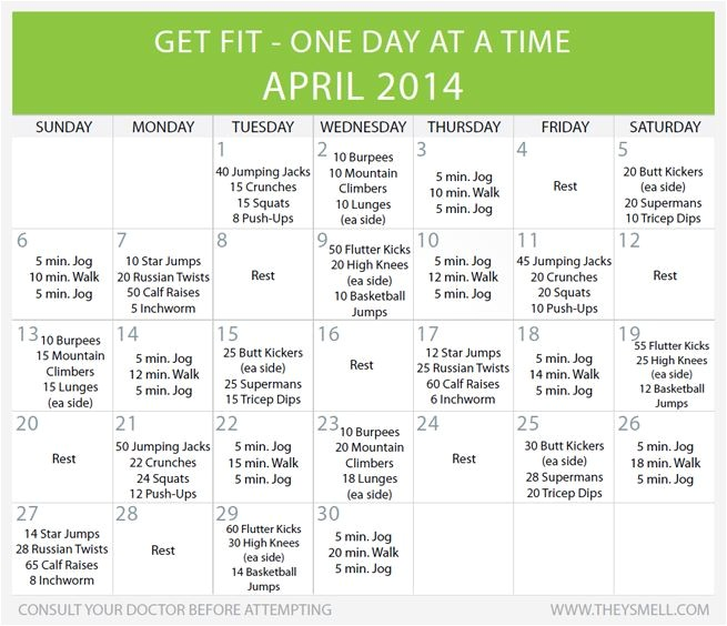 monthly fitness challenges