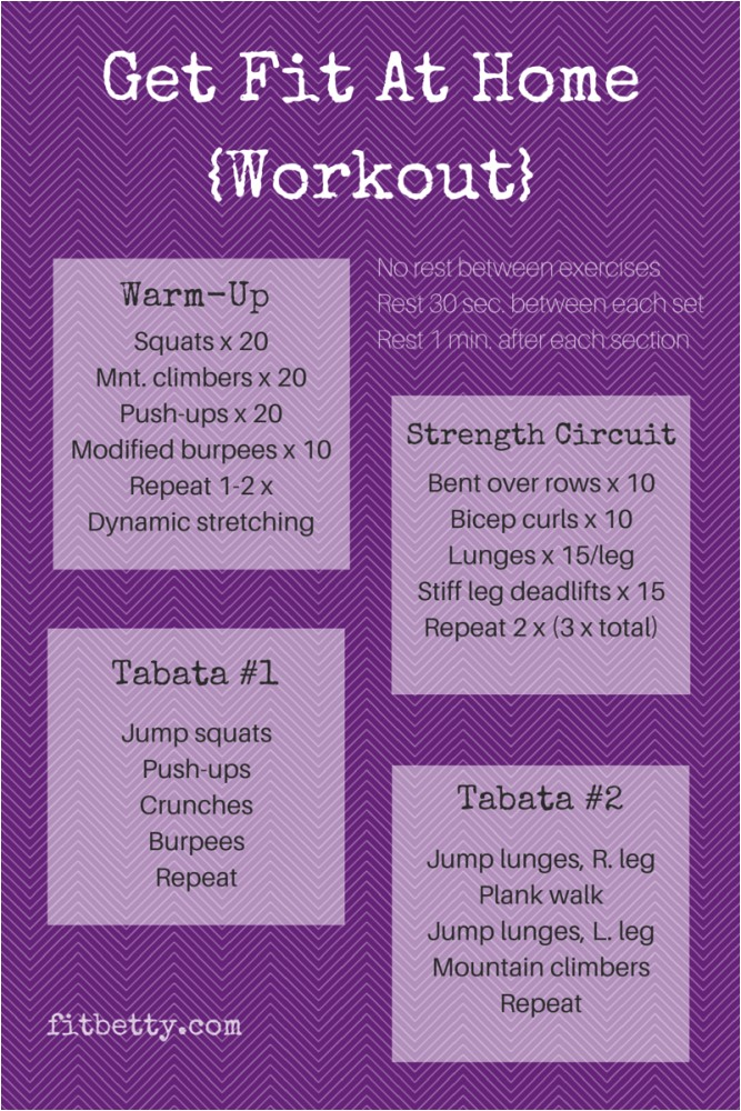 at home workout routine