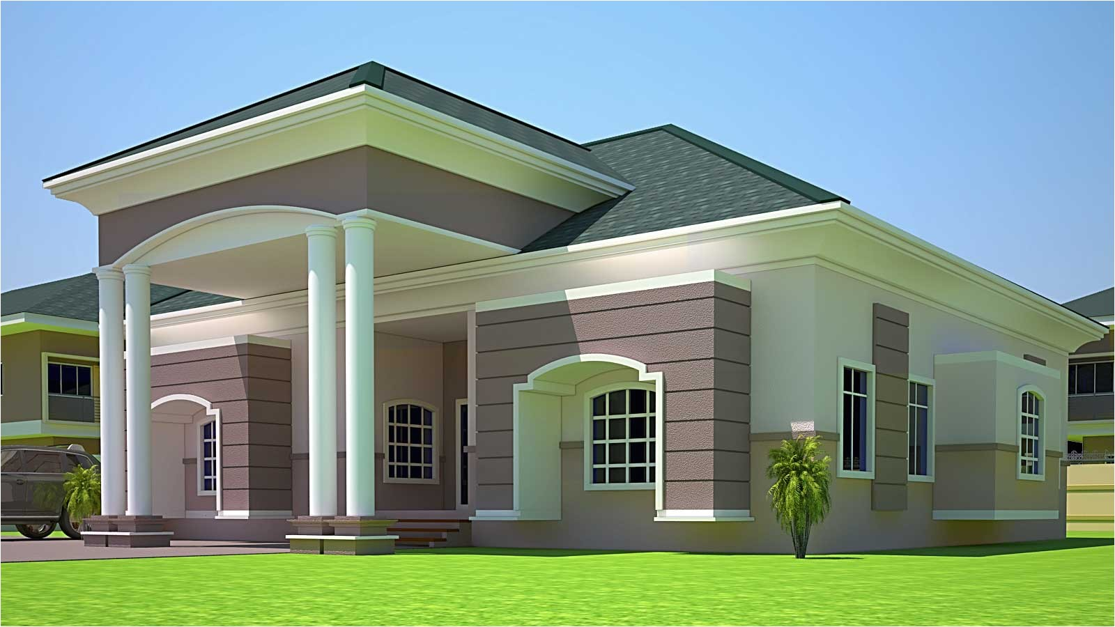 Ghana Homes Plans House Plans Ghana Holla 4 Bedroom House Plan In Ghana