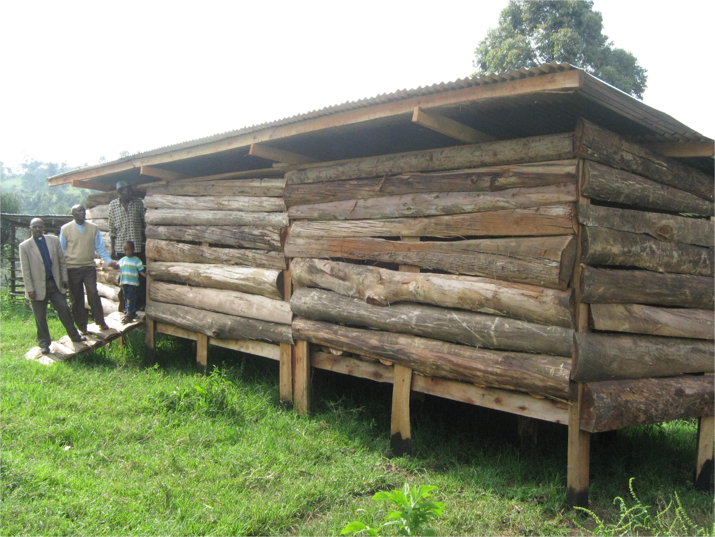 modern goat shed