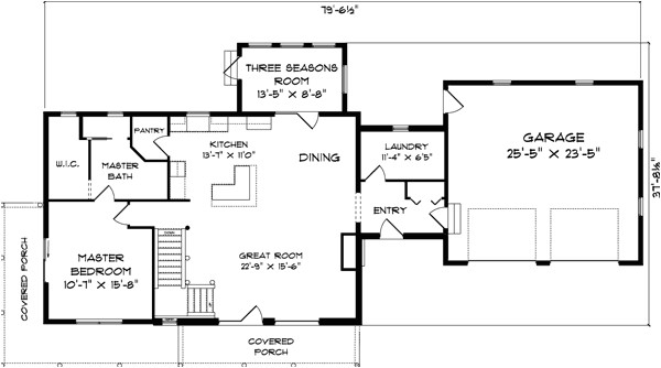 big timber log home plan