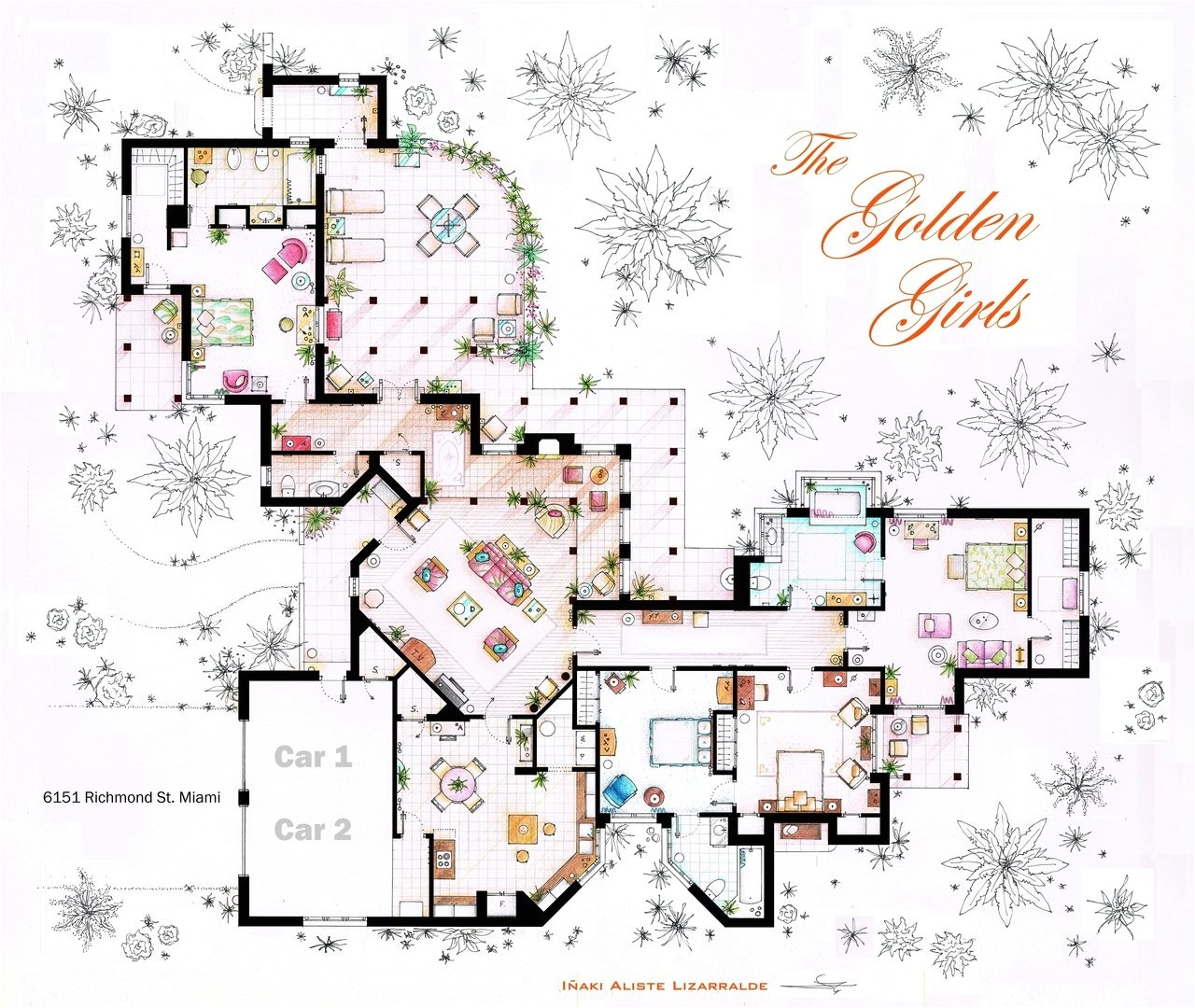 Golden Homes House Plans Floor Plans Of Homes From Famous Tv Shows