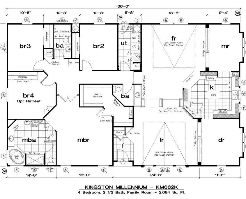 golden west kingston millennium floor plans
