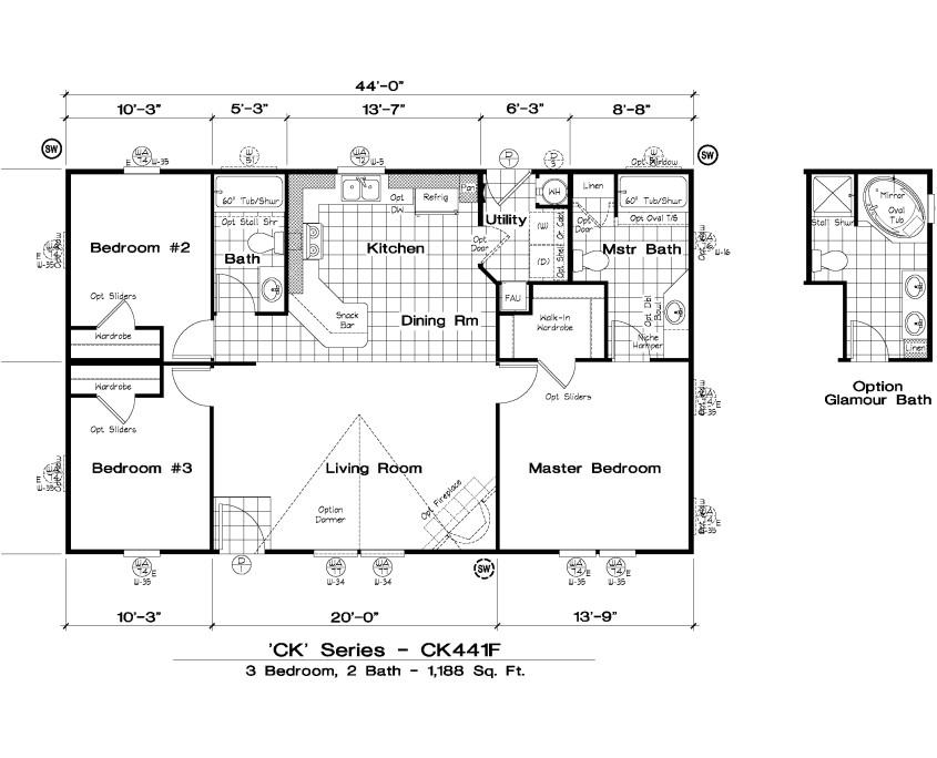 golden west ck series floor plans