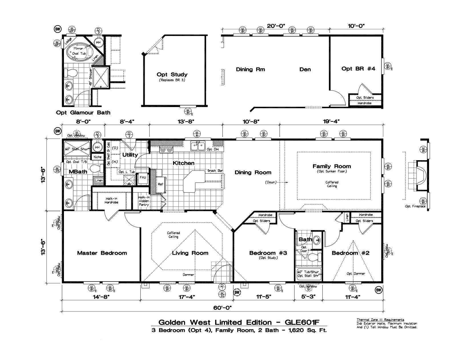 tlc manufactured homes golden west limited floor plans 74664 2