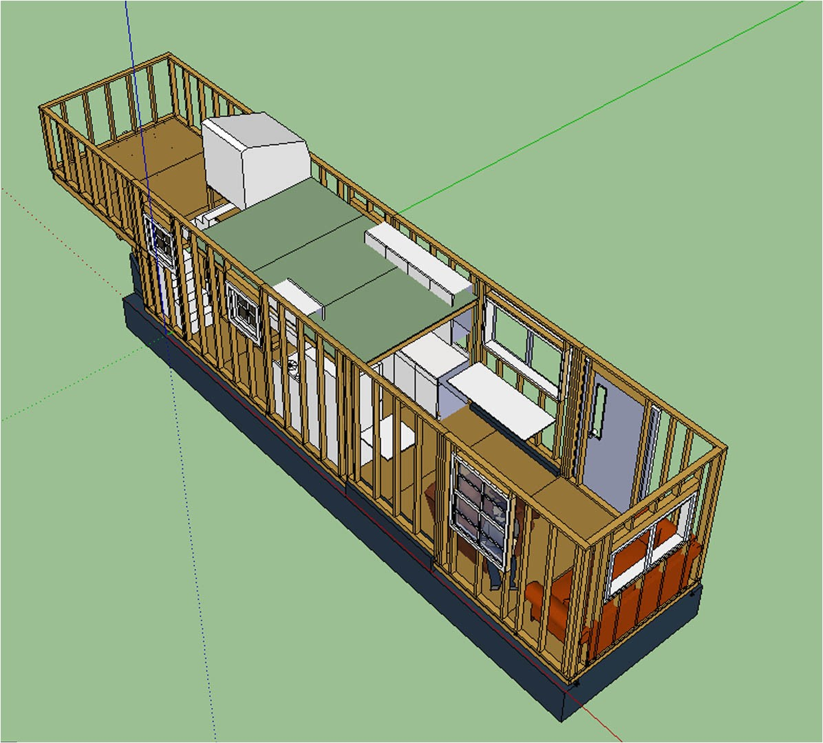 the updated layout tiny house
