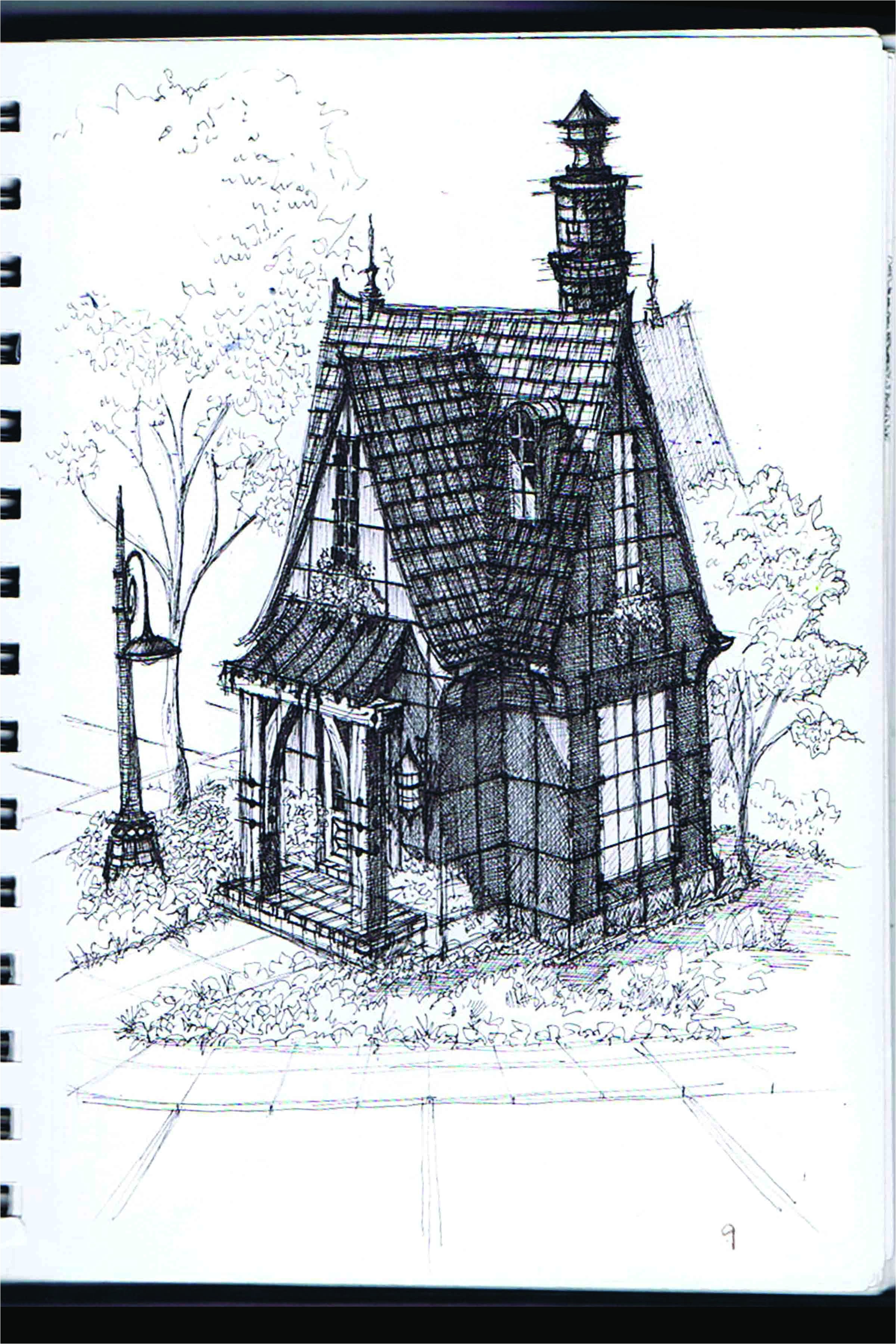 gothic victorian house drawing