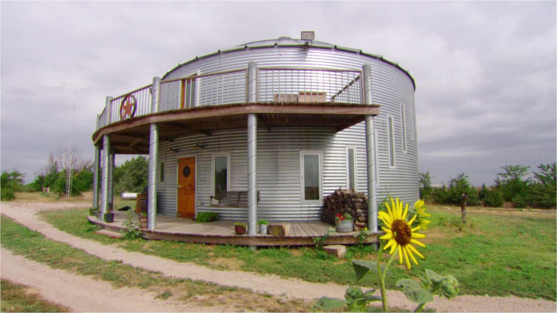 unique grain bin house