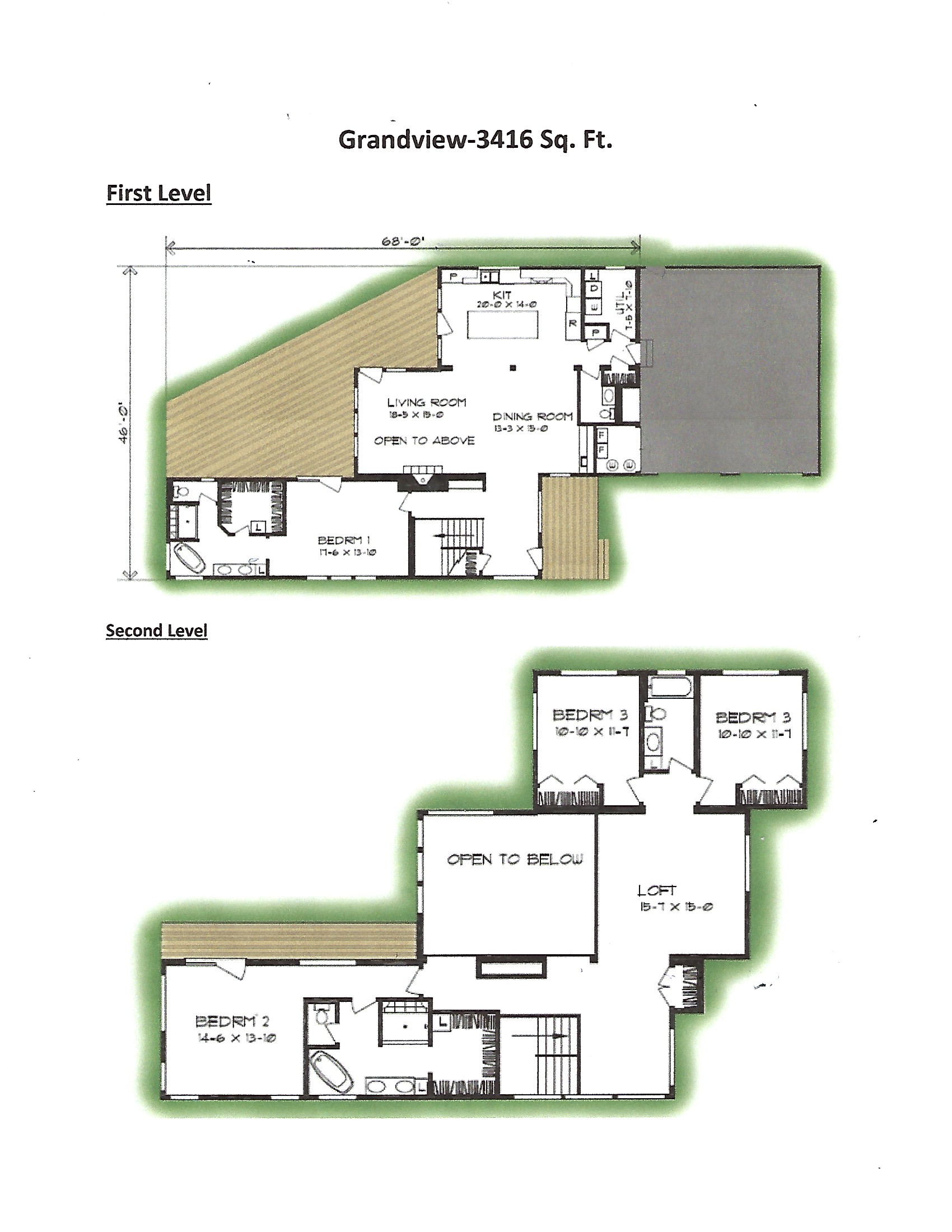 grandview modern flat roof design