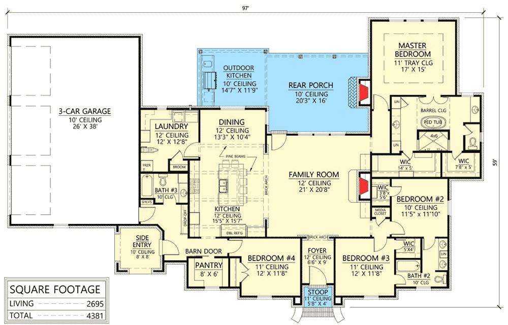 entertaining house plans