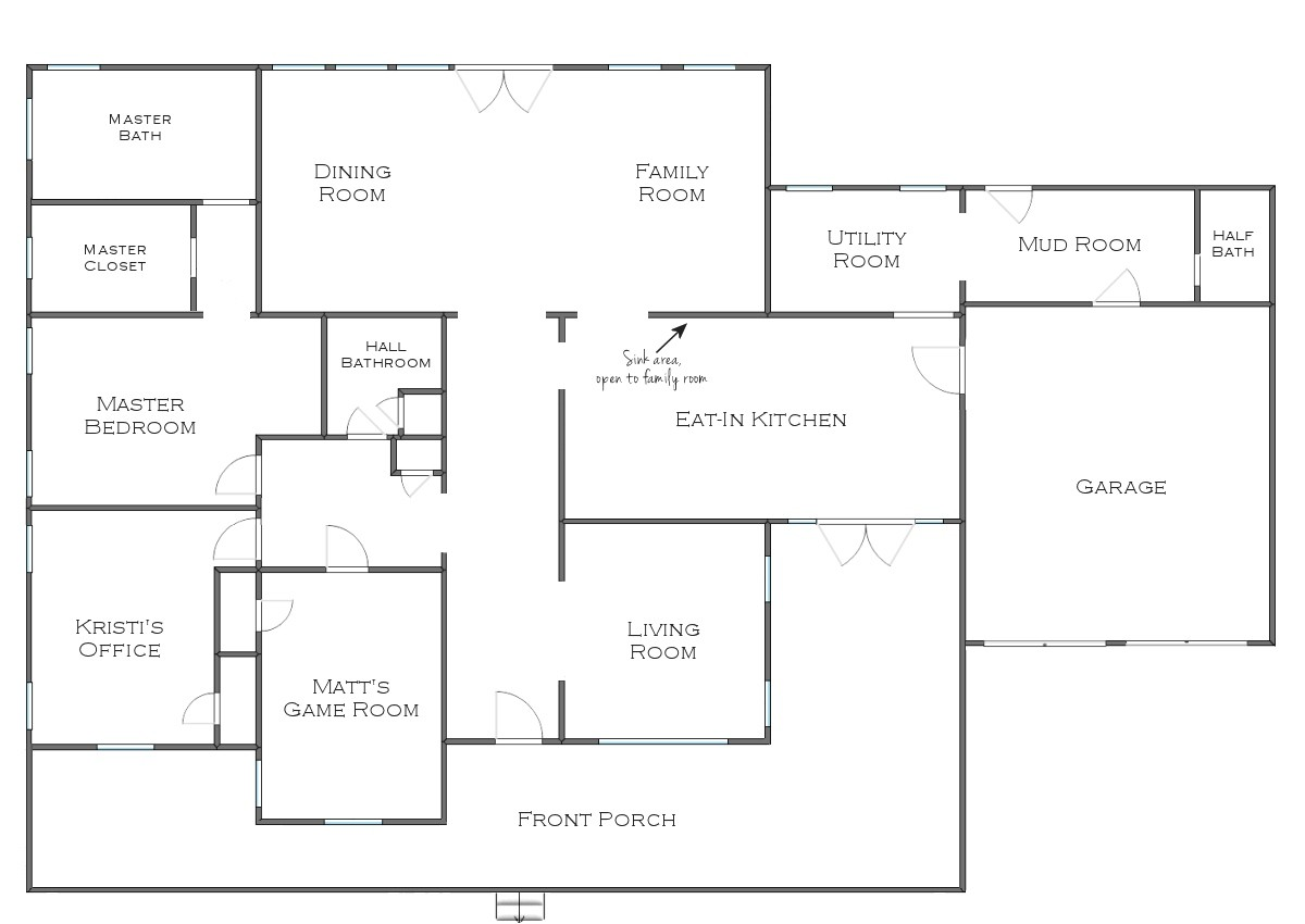 one story house plans for entertaining