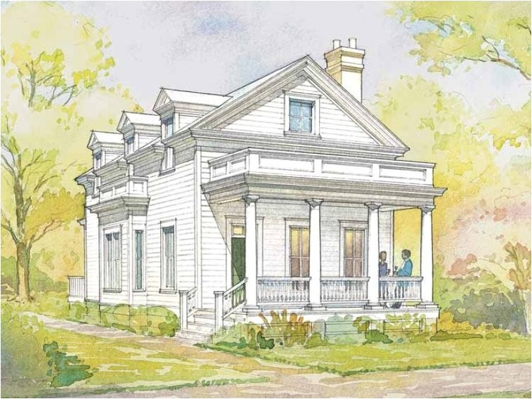 Greek Revival Home Plans Greek Revival House Plan with 1720 Square Feet and 3