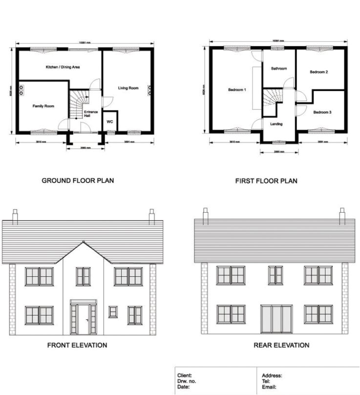 ground floor and first floor plan elevations and sections of a with luxury ground floor first floor home plan
