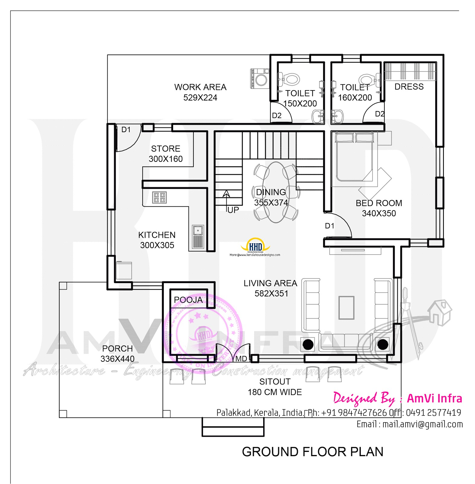 Ground Floor Plan for Home 178 Square Yards House Elevation and Plan Home Kerala Plans