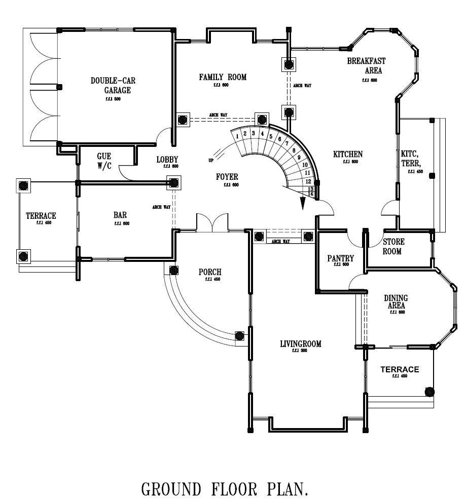 ground floor plan for home luxury ghana house plans ghana home designs ground floor