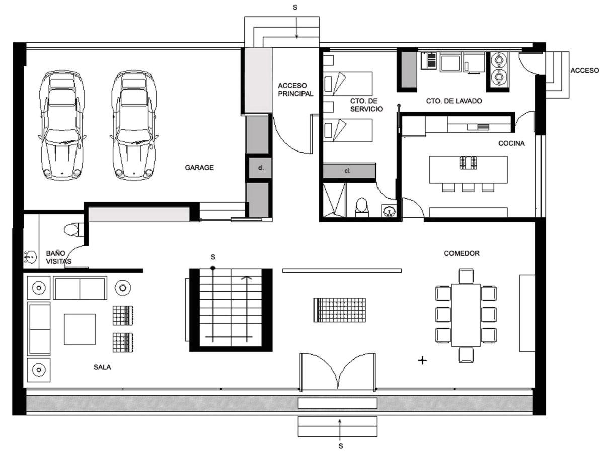 ground floor plan house hidalgo mexico bitar arquitectos 3