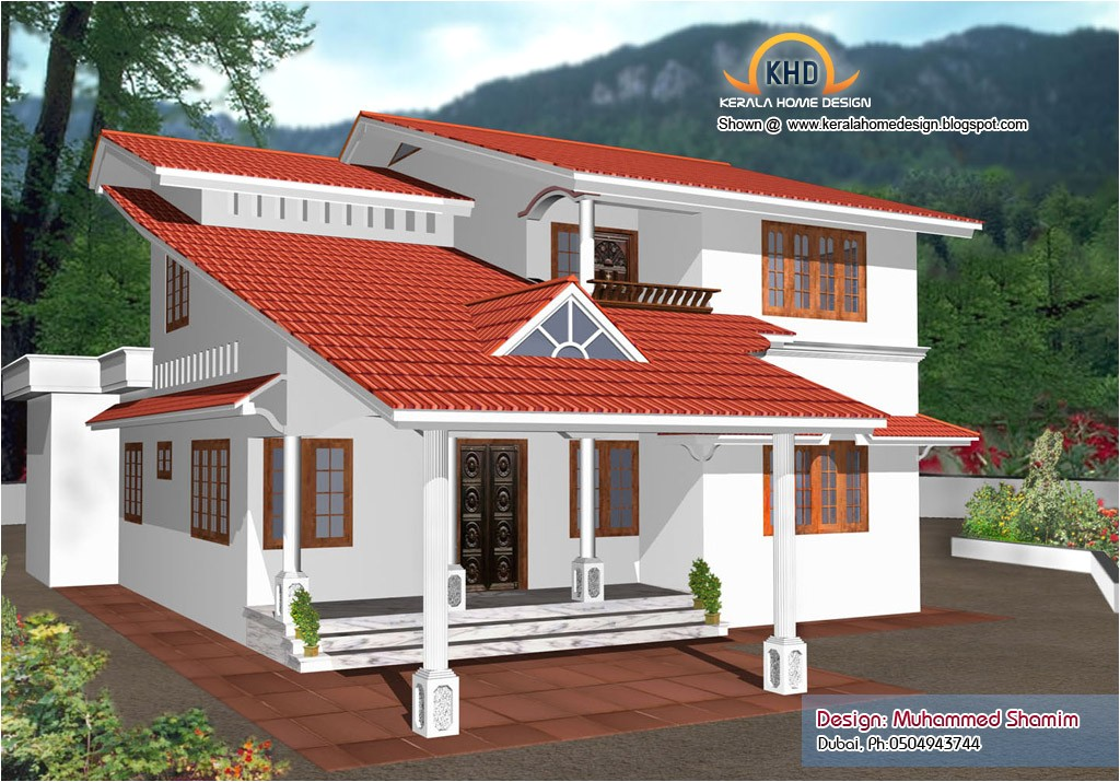Habitat Homes Kerala Plan 5 Beautiful Home Elevation Designs In 3d Home  Appliance