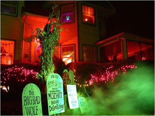 halloween graveyard scene