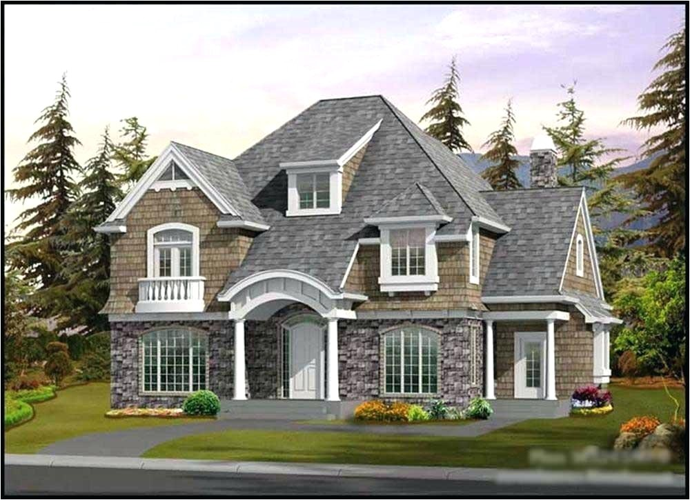 hampton shingle style house plans 3d