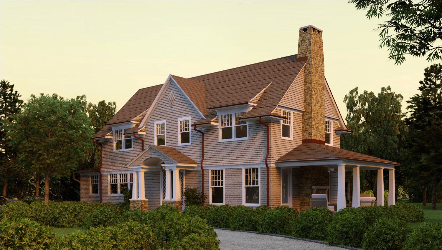 hampton shingle style house plans models