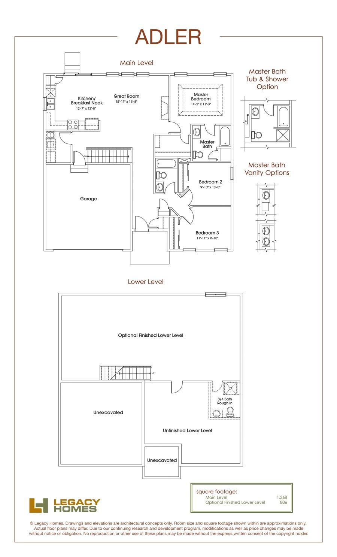 hearthstone homes omaha floor plans lovely adler floor plan legacy homes omaha and lincoln
