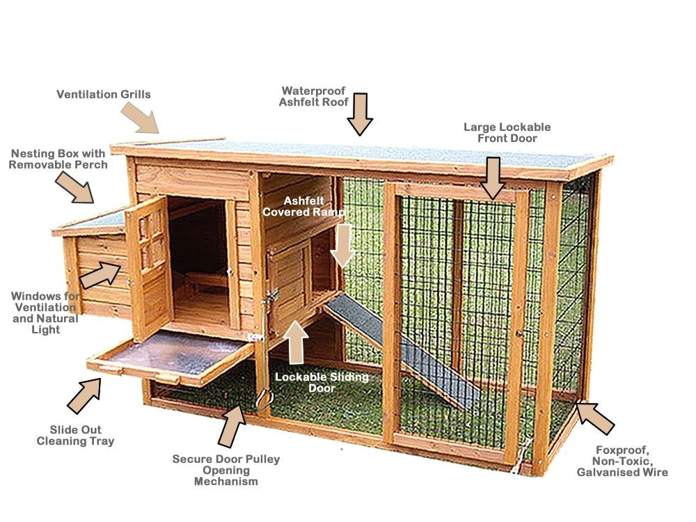 Hen Houses Plans Learn How to Build Chicken Coops or A Hen House with Easy