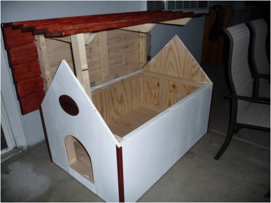 free dog house plans hinged roof