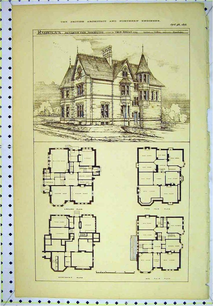 Historic Home Floor Plans Vintage Victorian House Plans Classic Victorian Home