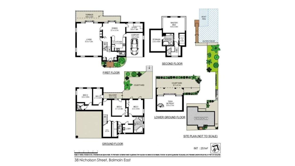 balmain waterfront holiday house floor plans sydney