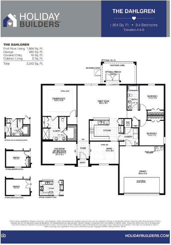 holiday builders floor plans