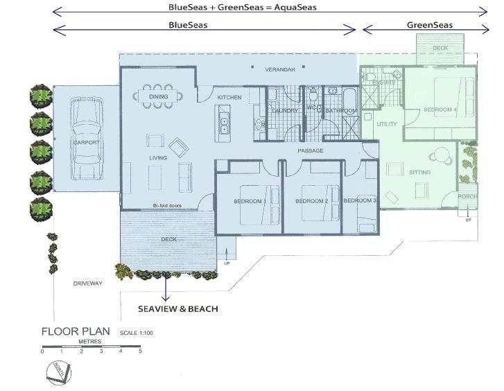 holiday house floor plan kangaroo island