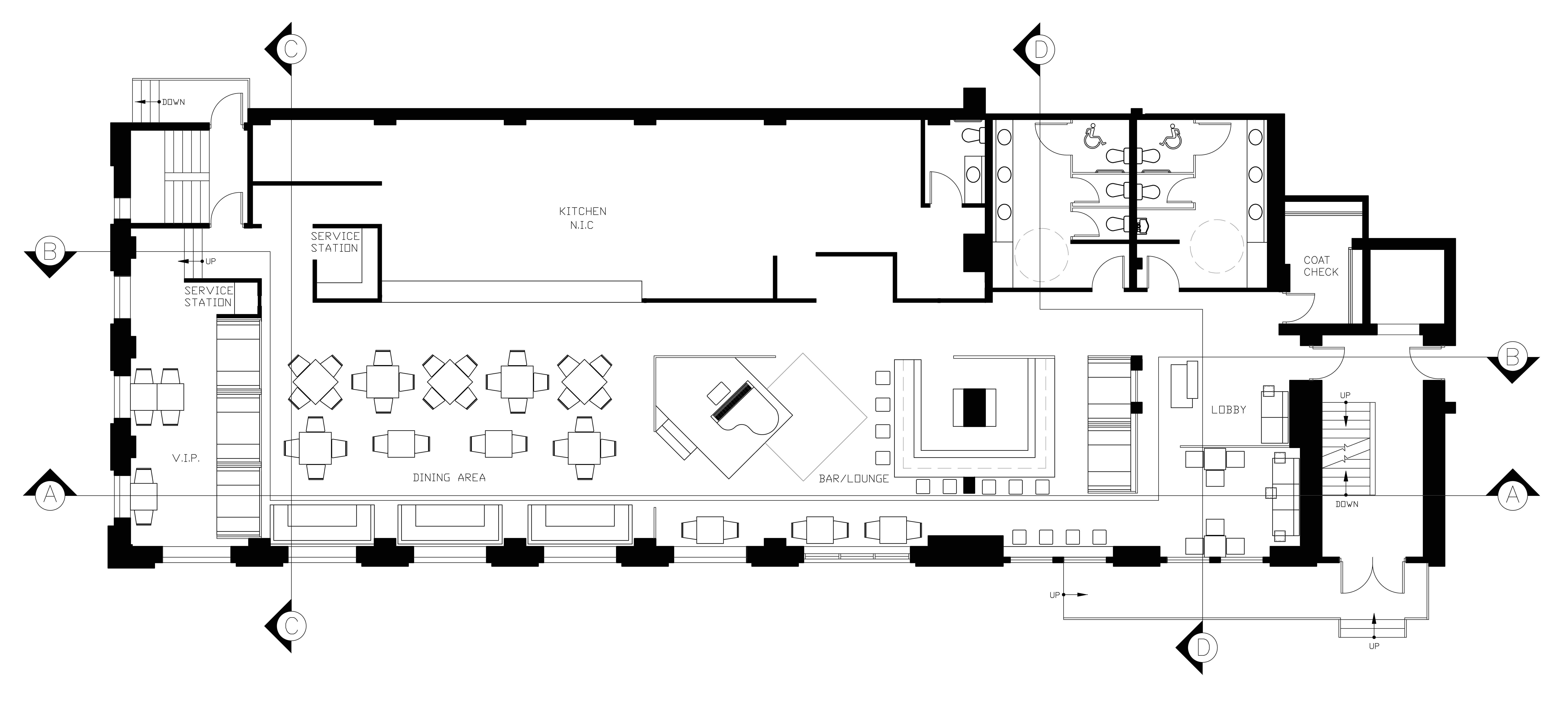 Home Bar Floor Plans Restaurant Floor Plan Layout With Kitchen