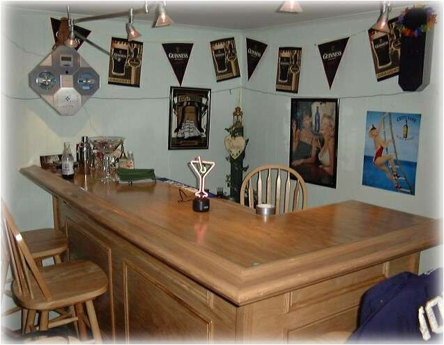 Home Bar Kits and Plans L Shaped Home Bar Plans