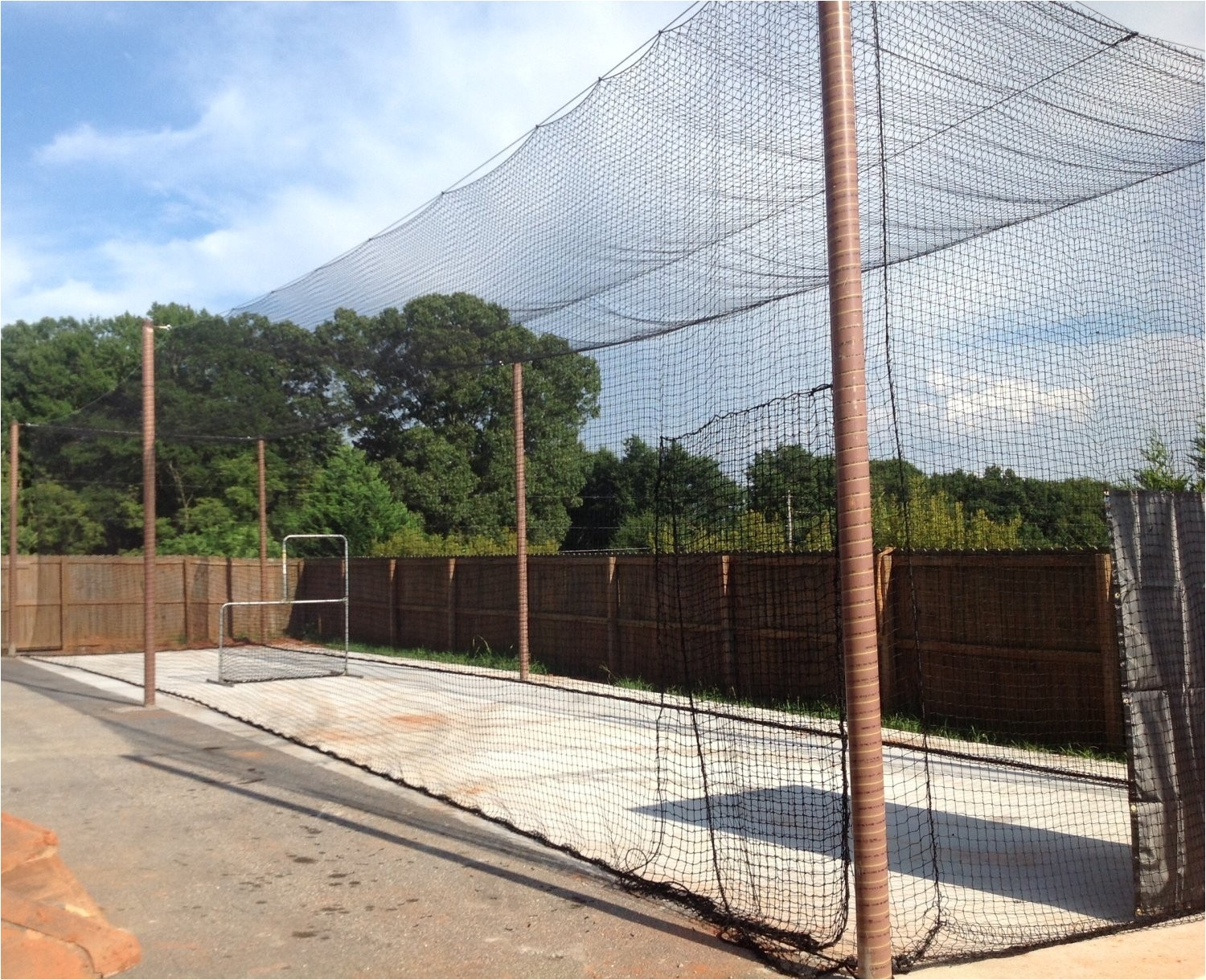 how to build a backyard batting cage