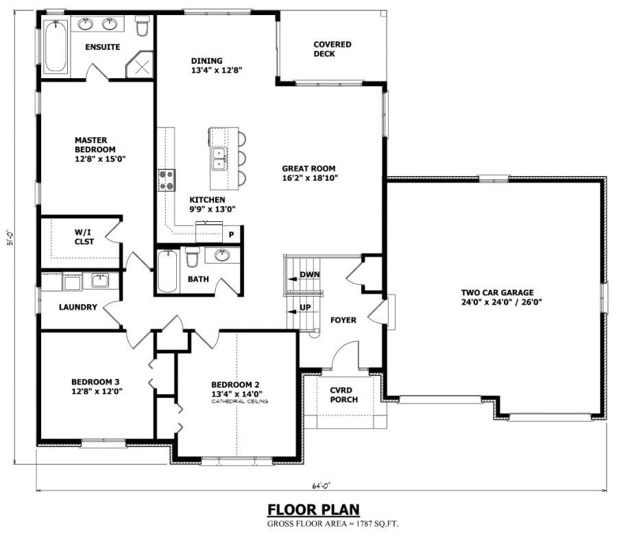 the sudbury raised bungalow house plan