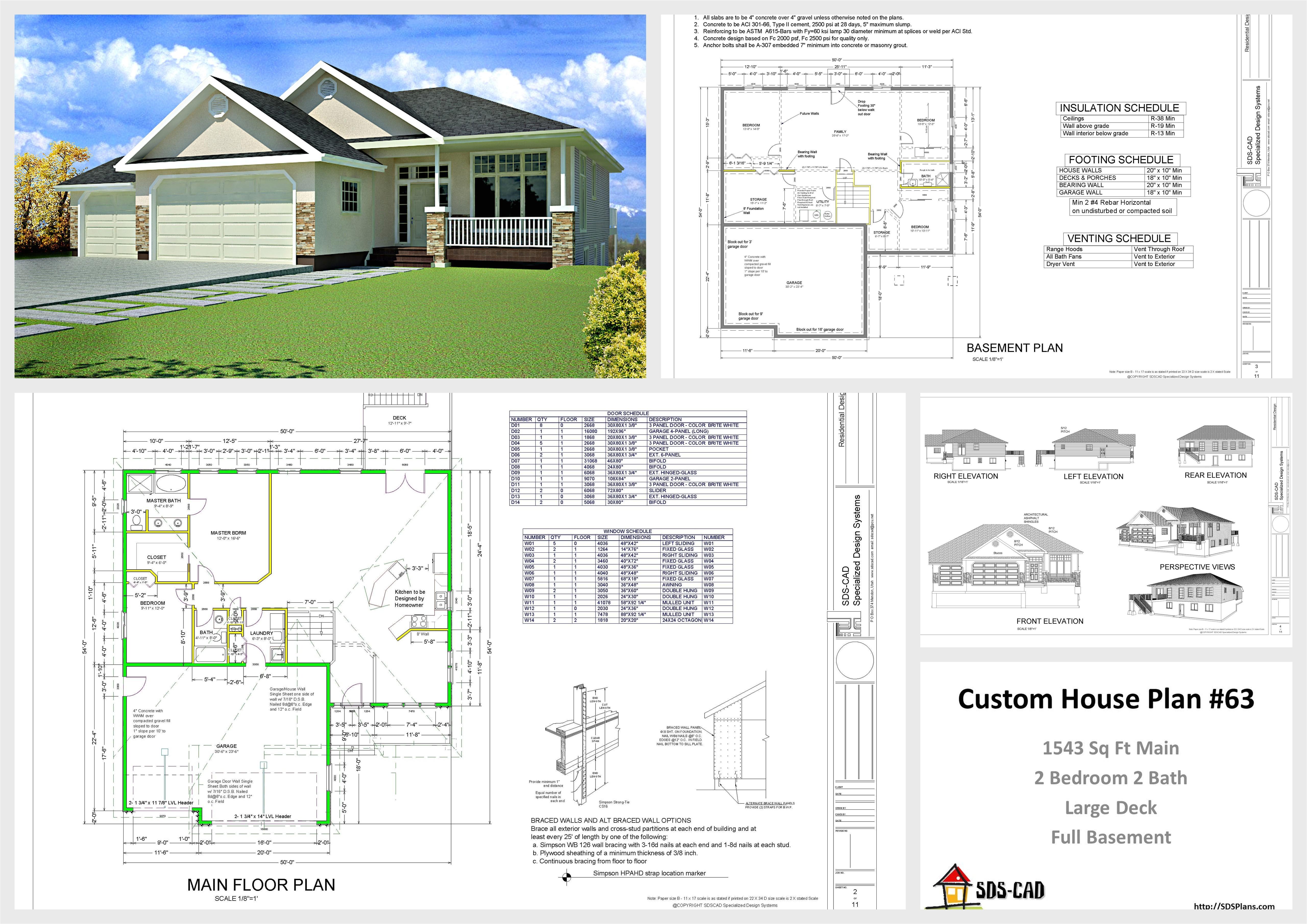 autocad house plans 4