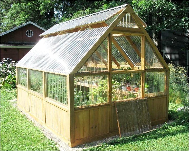 diy greenhouse plans and greenhouse kits lexan polycarbonate cedar wood framed greenhouse charming backyard greenhouse kit 4