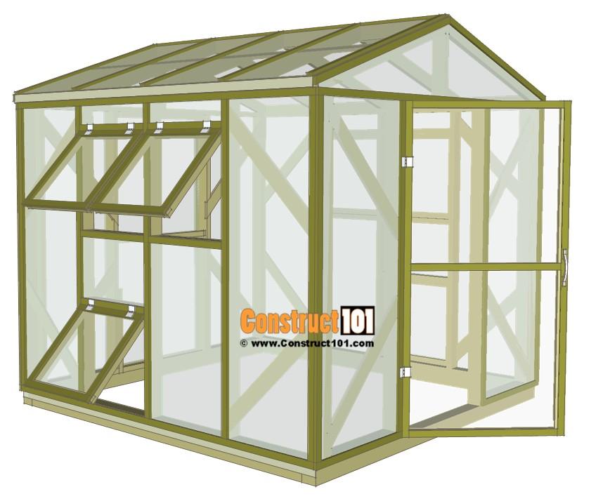 greenhouse plans 8x8