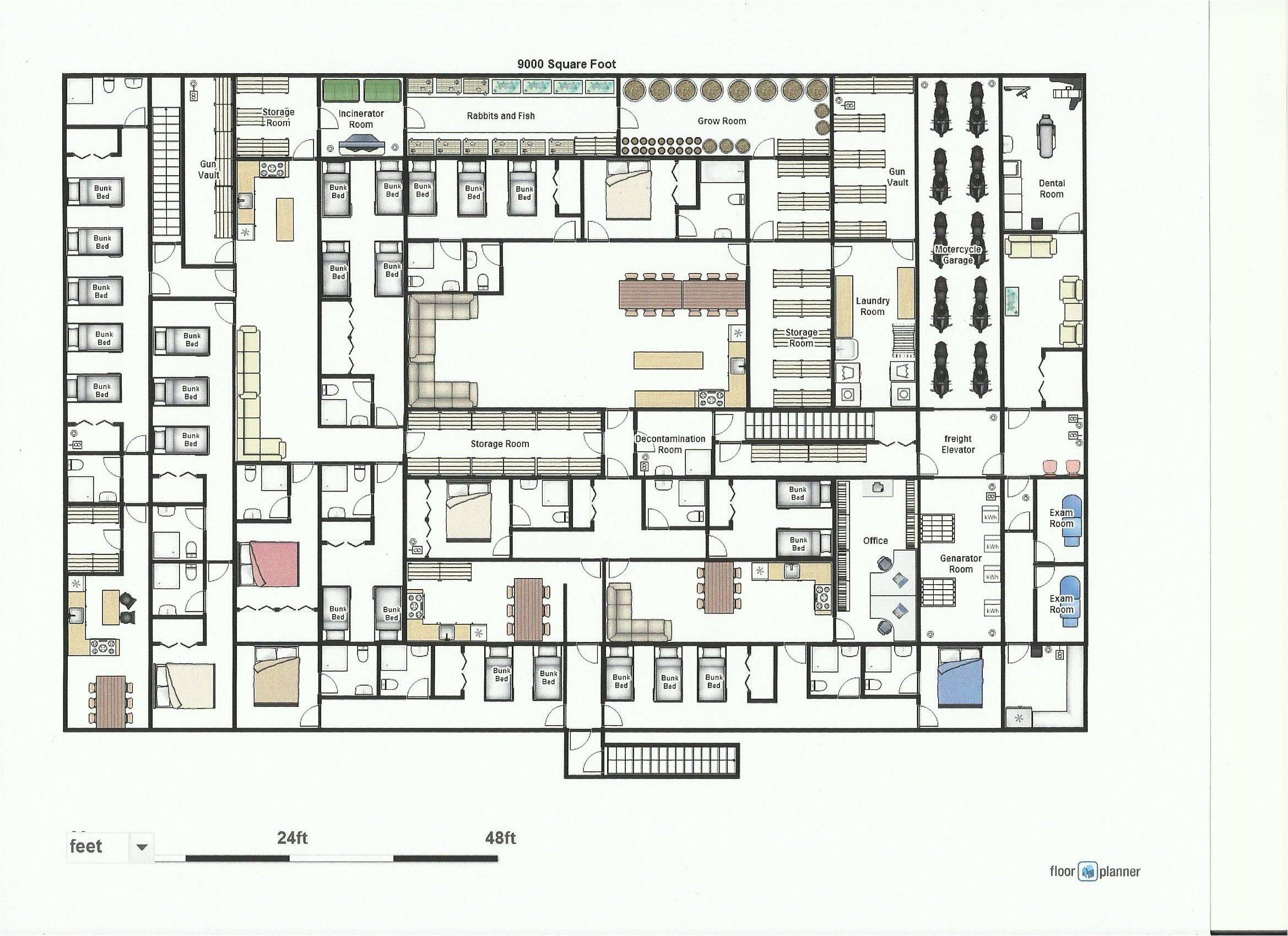 underground shelter floor plans