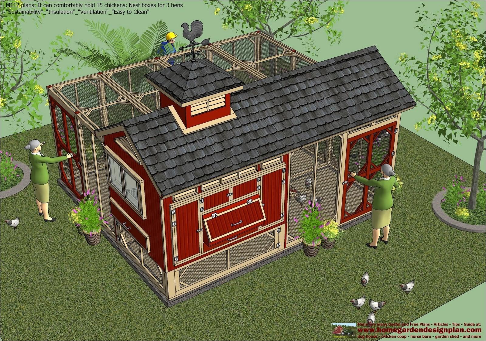 m112 chicken coop plans construction