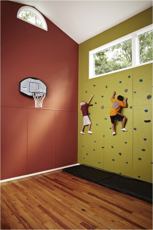 indoor rock climbing wall ideas