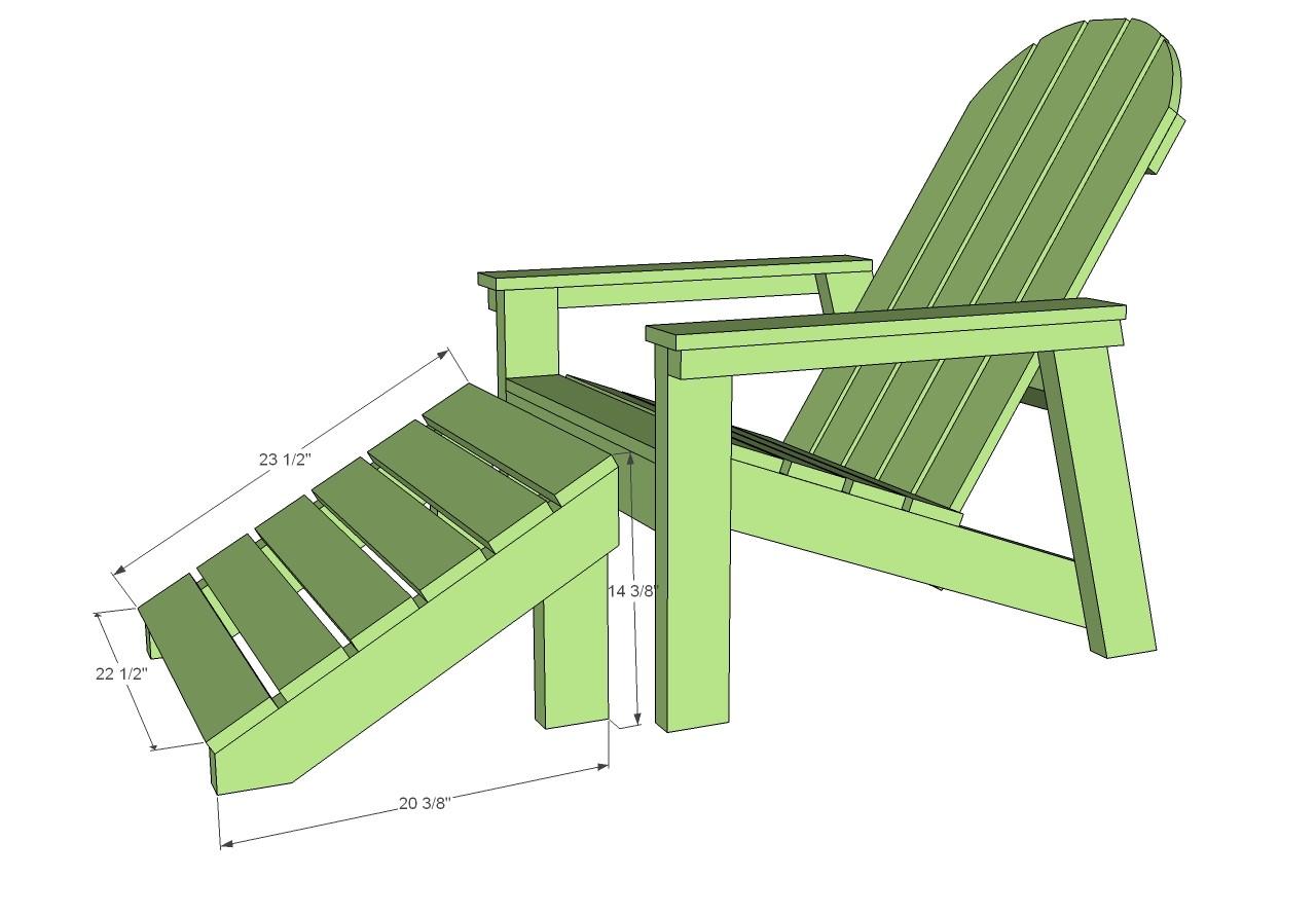 home depot adirondack footstool